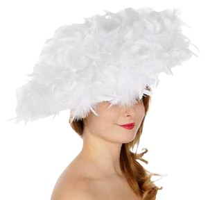 kentucky derby hat Formal All feather fascinator White Dressy Church