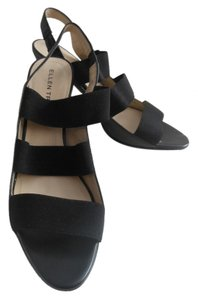 Ellen Tracy Open Toe Slingback Black Sandals
