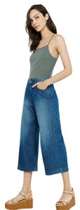 Express Cullottes Gaucho High-waisted Capri/Cropped Denim-Medium Wash