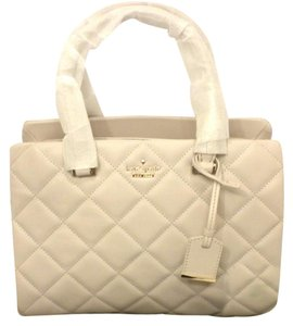 Kate Spade Olivera White Kate Quilted Olivera White Leather Ks Kate Pxru6526 Satchel in bone