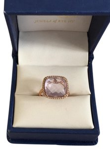 Fine Jewelry Vault Amethyst and Diamond Ring in Rose Gold