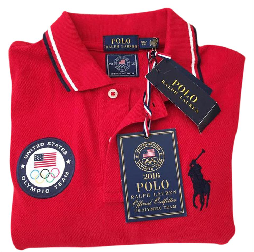 Polo Ralph Lauren Red Olympic Games 2016 Team Usa Slim Fit Tee Shirt ... 5ad1c8775caa6