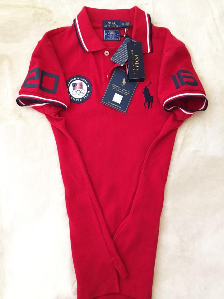 Fit 2016 Olympic Ralph Games Shirt 2xs60Off Team Tee Polo Size Retail Red Slim Lauren Usa P8kX0Onw