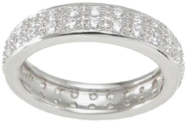 Item - Solid .925 Sterling Silver 1.0 Ct Pave Double Row Anniversary Eternity *size 5 6 7 8 9 * Women's Wedding Band