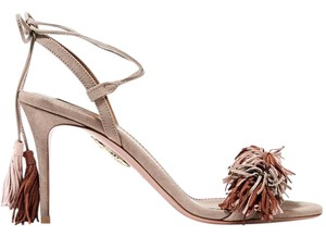 Aquazzura Wild Thing Fringed Suede Wild Thing Pumps nude multi Sandals