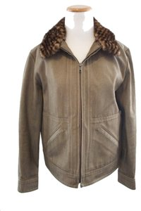 Louis Vuitton Damier Olive Womens Jean Jacket