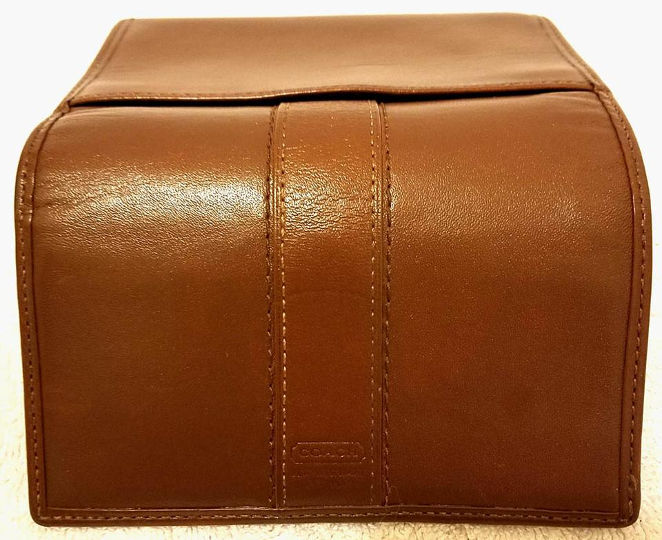 coach cognac brown leather single fold wallet tradesy. Black Bedroom Furniture Sets. Home Design Ideas