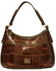 Dooney & Bourke Euc Refurbished Croc Leather Lined Shoulder Bag