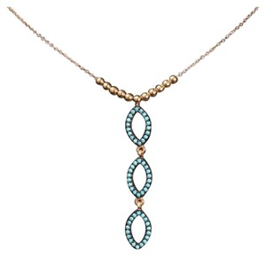 Other three layered Turquoise necklace on sterling chain