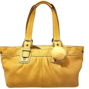Coach Euc Leather Lined Tote in Mustard