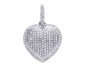 Other 14K White Gold Real Diamond Heart Ladies Pendant 1/4 CT 0.8