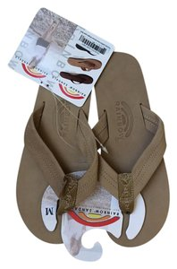 Rainbow Sandals Flip Flops Leather Rainbow New With Tags Sierra Brown Sandals