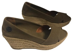 Tory Burch taupe Wedges