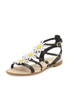 Kate Spade Daisy Collin Black, White, Yellow Sandals