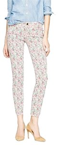 J.Crew Toothpick Jean Ankle-length Skinny Pants floral print