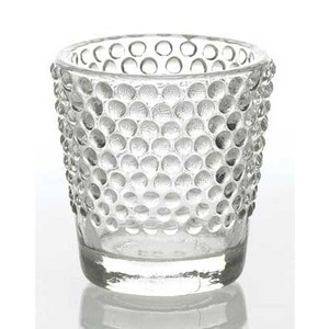 Clear Beaded Votive
