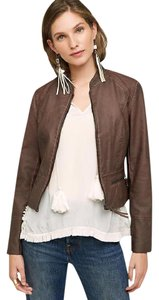 Hei Hei Anthropologie Vegan Brown Leather Jacket
