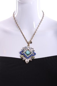 J.Crew Blue Rhinestone Beaded Necklace