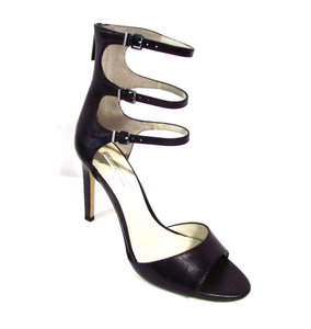 BCBGeneration Strappy Cocktail Evening Sexy Leather Black Pumps