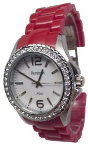 Armitron 75/3935SV Women's Pink/Purple Tone Crystal Accent White Dial Watch
