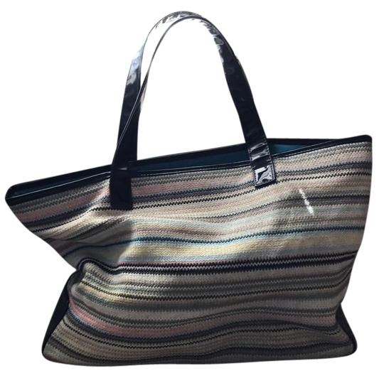 Preload https://item5.tradesy.com/images/stephanie-johnson-018-multi-colored-with-black-straps-threadknit-tote-21293349-0-1.jpg?width=440&height=440