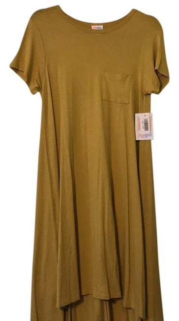 Preload https://img-static.tradesy.com/item/21293353/lularoe-mustard-yellow-carly-mid-length-short-casual-dress-size-00-xxs-0-1-650-650.jpg