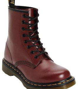 Dr. Martens Cherry red/Burgundy with black trim Boots