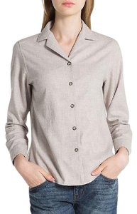 Ines De La Fressange Button Down Shirt beige