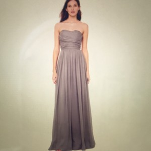 J.Crew Purply Silver Silk Collection Gown Feminine Bridesmaid/Mob Dress Size 8 (M)