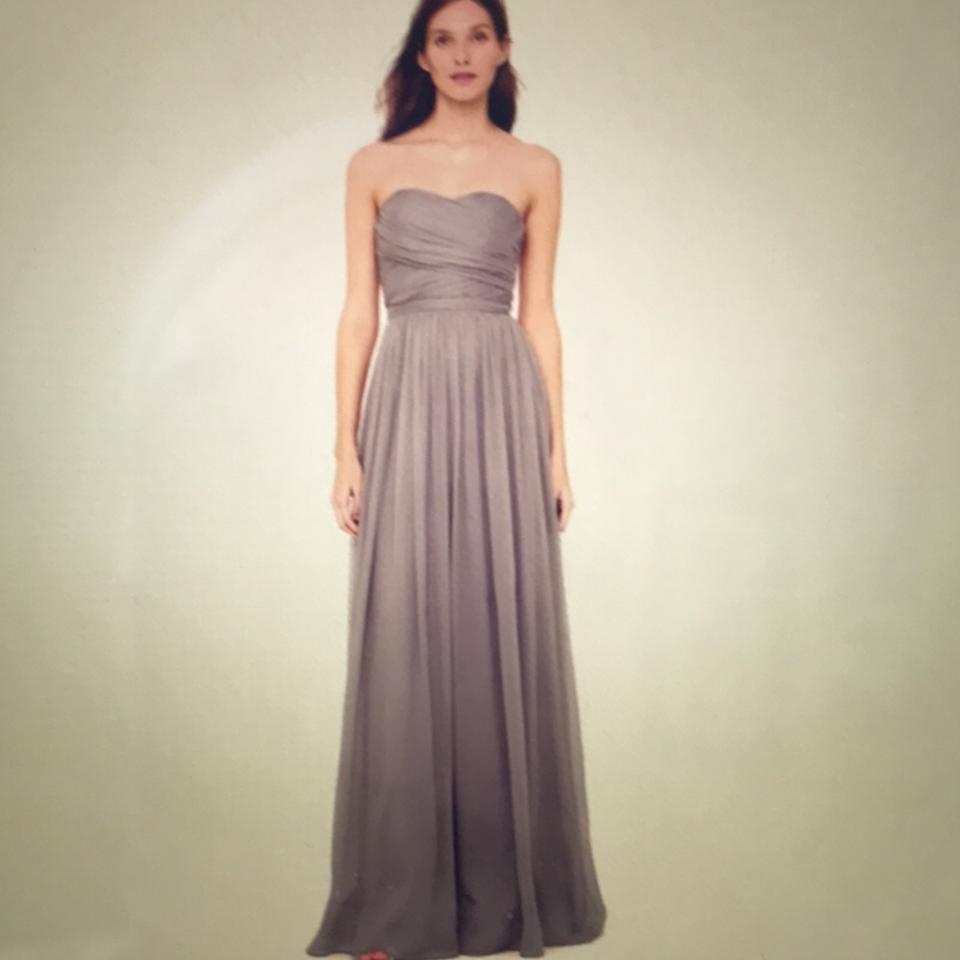 J.Crew Purply Silver Silk Collection Gown Feminine Bridesmaid/Mob ...