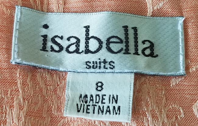 Isabella Suits ISABELLA SUITS Peach Silky Jacquard Skirt Suit 8