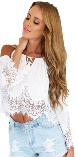 Preload https://item5.tradesy.com/images/white-the-shoulder-bell-sleeve-lace-boho-blouse-size-8-m-21293629-0-1.jpg?width=400&height=650