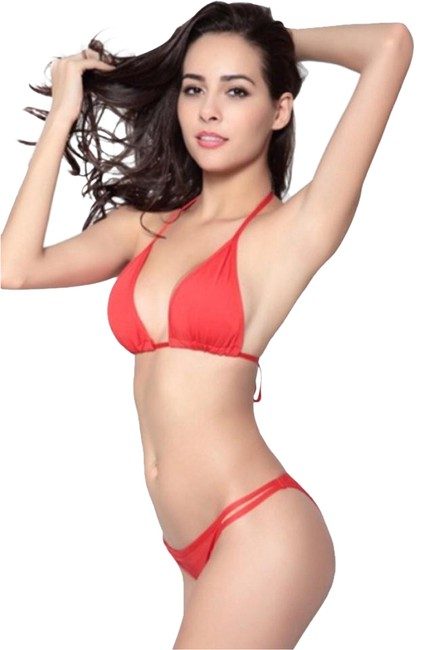Other Red bikini with double strap Brazilian bottom