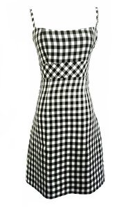 Chanel short dress Black and white Checkered 2011 Mini on Tradesy