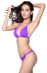 Other Purple bikini with double strap Brazilian bottom