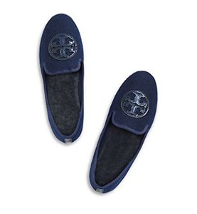 Tory Burch Slippers Loafers Comfortable BRIGHT NAVY Flats