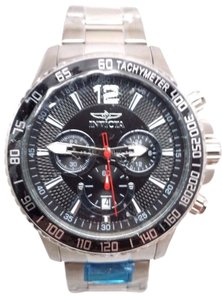 Men's In victa 15609 Specialty Chronograph Black Dial Stainless Steel Watch