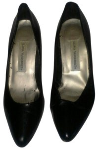 Gloria Vanderbilt Leather High Heels Black Formal