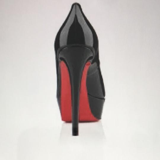 Christian Louboutin black and red Platforms