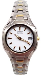 Citizen Eco-Drive Women's EW1254-53A Two Tone Bracelet Watch