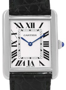 Cartier Cartier Tank Solo Ladies Steel Quartz Watch W1018255 Box Papers