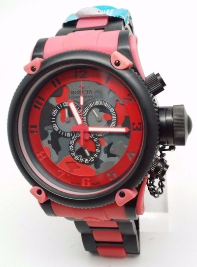 Invicta Men's Analog Display Chronograph Quartz Red and Black Watch