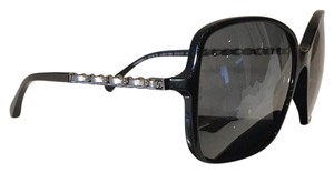 Chanel Black Oversized Chain Sunglasses