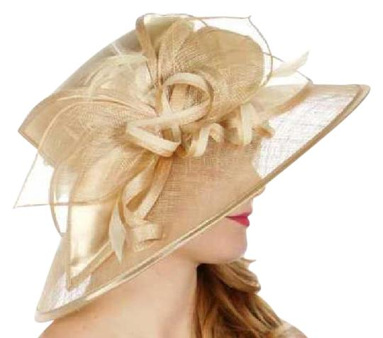 Preload https://item5.tradesy.com/images/champagne-formal-sinamay-leaf-looops-classic-navy-dressy-church-hat-21293979-0-1.jpg?width=440&height=440