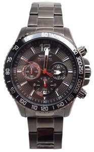 Invicta $795 SPECIALTY MENS BLACK DIAL DATE CHRONO BLACK ION SS WATCH 16201