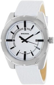 DIESEL D z1599 White Leather Strap Dial Mens Watch