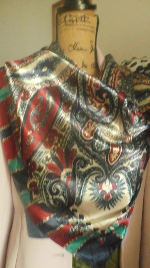 Other M.O.S.I NEW GORGEOUS MULTI COLOR POLYESTER SCARF 35X35