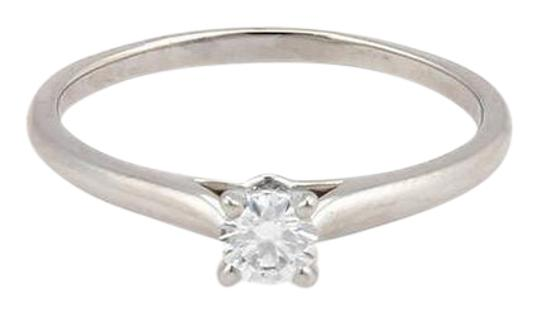 Cartier Platinum 0.18 Ct D-VS1 Round Diamond Solitaire Ring Size 5.75 w/GIA