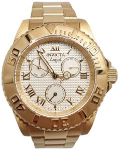 Invicta 21697 Lady's Gold Dial Yellow Steel Crystal Dive Watch