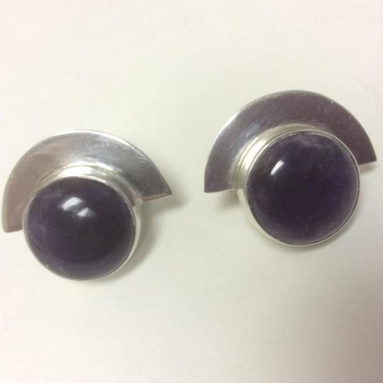 Other Amethyst Stud Sterling Silver Earrings